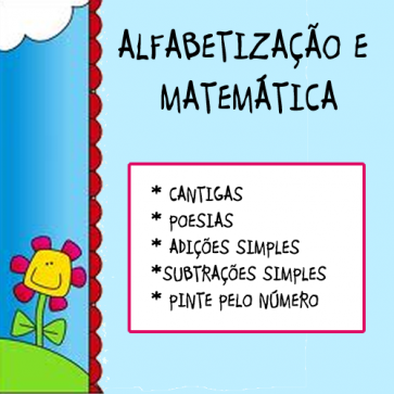 Alfabetização e Matemática - Textos e Pinte pelo número