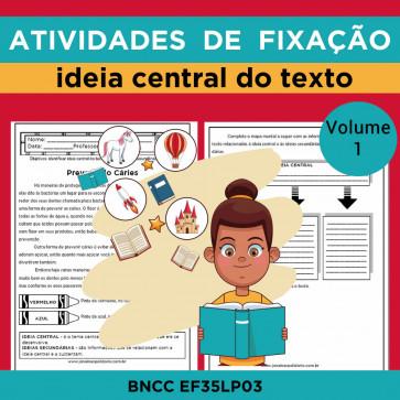 Atividades de Fixação - Ideia Central do Texto - Volume 1