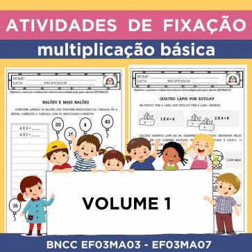 Atividades de Fixação - Multiplicação Básica - Volume 1