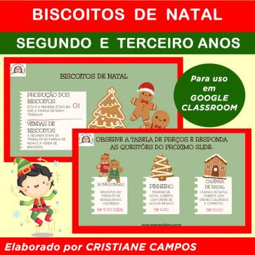 Biscoitos de Natal - para Google Classroom