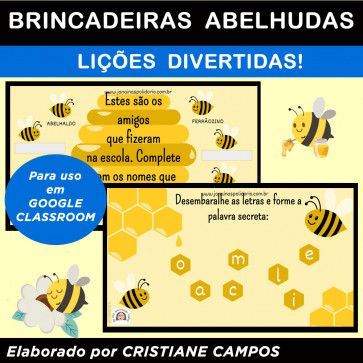 Brincadeiras Abelhudas - para Google Classroom
