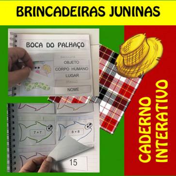 Caderno Interativo - Brincadeiras Juninas