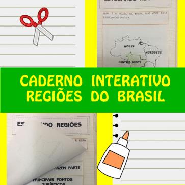 Caderno interativo - Regiões do Brasil