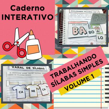 Caderno Interativo - Sílabas Simples - Volume 1