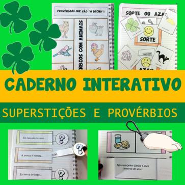 Caderno interativo - SUPERSTIÇÕES E PROVÉRBIOS