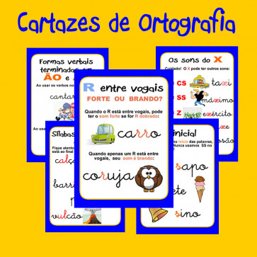 Cartazes de Ortografia