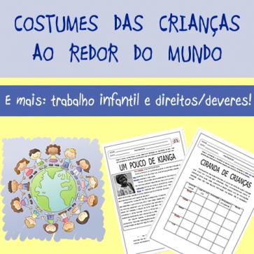 Costumes das crianças ao redor do mundo