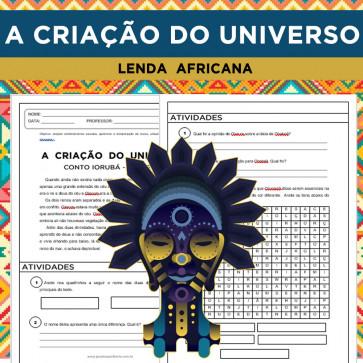 """Lenda africana """"Criação do Universo"""""""