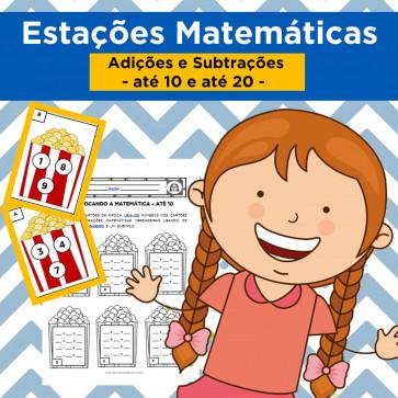 Estações Matemáticas - adições e subtrações simples