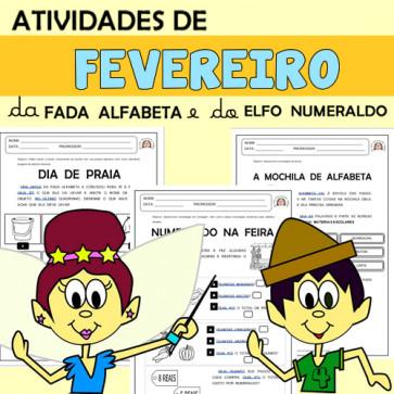Atividades de FEVEREIRO com Alfabeta e Numeraldo