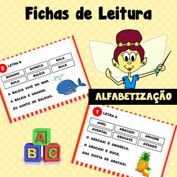 Fichas de leitura - ALFABETIZAÇÃO
