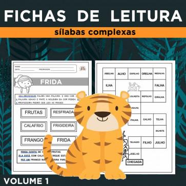 Fichas de Leitura - SÍLABAS COMPLEXAS - Volume 1