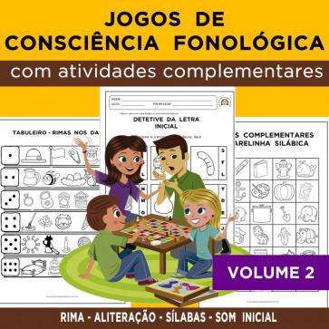 Jogos de CONSCIÊNCIA FONOLÓGICA - Volume 2