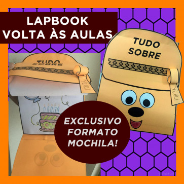 Lapbook VOLTA ÀS AULAS - Formato MOCHILA