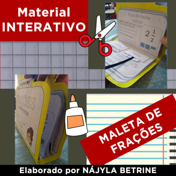 Material Interativo - MALETA DE FRAÇÕES
