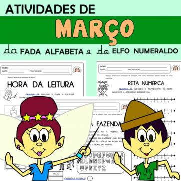 Atividades de março com alfabeta e numeraldo