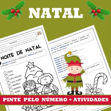 NATAL - Pinte pelo número com atividades