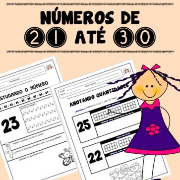 Números de 21 até 30