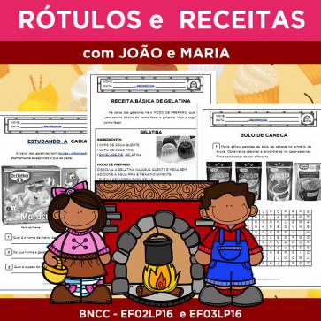 Rótulos e Receitas com JOÃO E MARIA