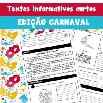 Textos informativos - edição CARNAVAL