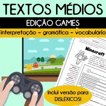 Textos médios - edição GAMES
