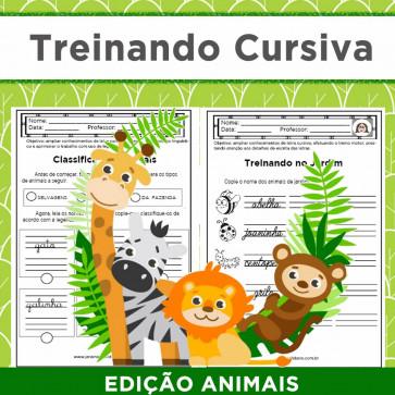 Treinando cursiva - edição ANIMAIS