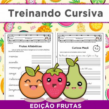 Treinando Cursiva - edição FRUTAS