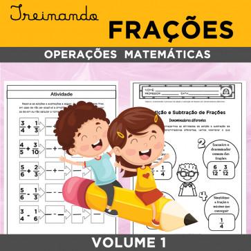 Treinando FRAÇÕES - operações matemáticas