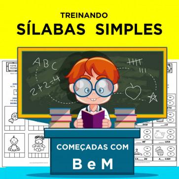 Treinando SÍLABAS SIMPLES começadas com B e M