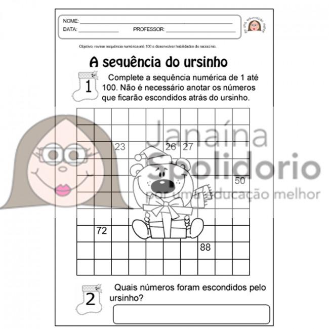Atividades Matematicas De Natal Janaina Spolidorio