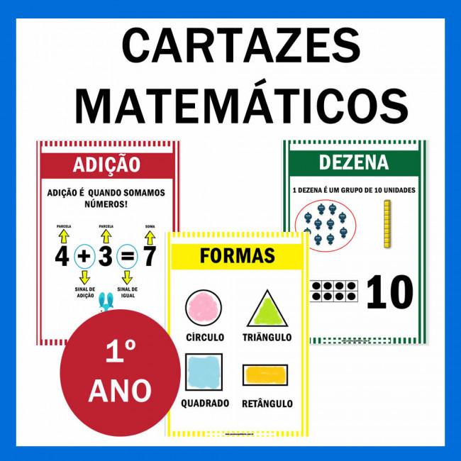 Cartazes Matematicos 1º Ano Janaina Spolidorio