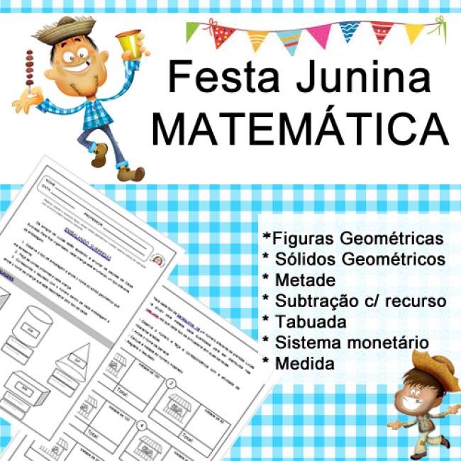 Festa Junina Matemática Janaína Spolidório