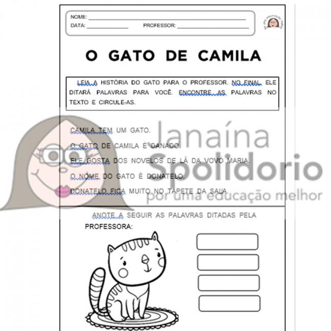 Fichas De Leitura Animais Sílabas Simples Janaína Spolidório
