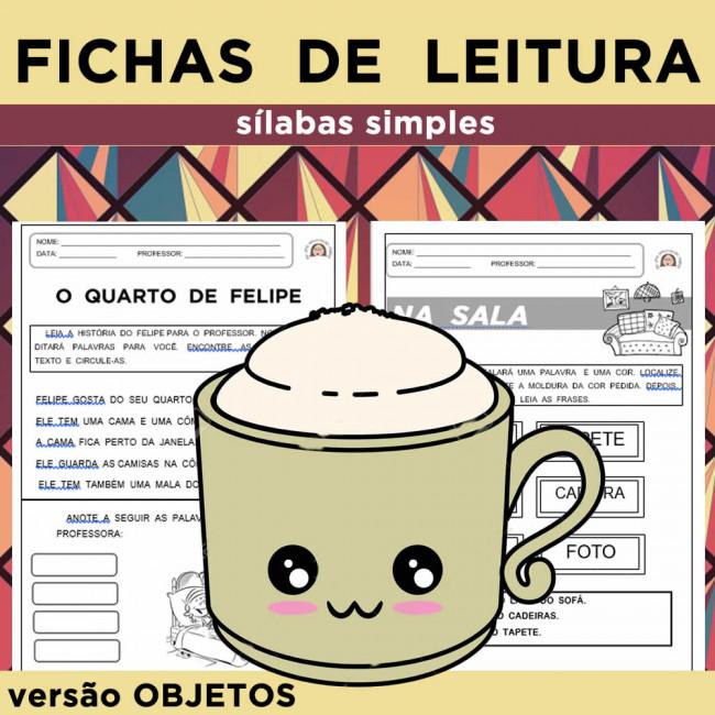 Fichas De Leitura Objetos Sílabas Simples