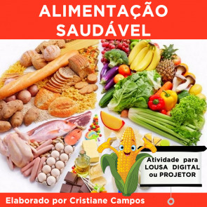 Alimentação Saudável - para LOUSA DIGITAL