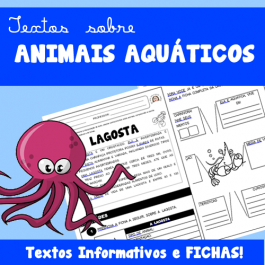 Textos sobre ANIMAIS AQUÁTICOS - fichas e textos informativos