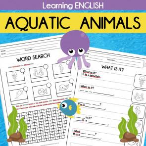 Learning English - Aquatic Animals