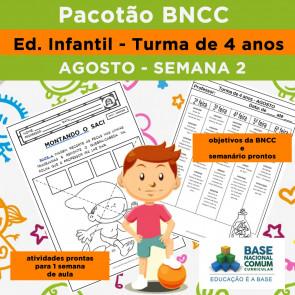 BNCC Infantil - segunda semana de agosto - turma de 4 anos