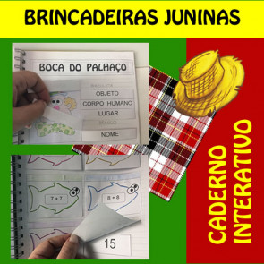 Caderno Interativo - Brincadeiras Juninas