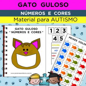 Gato Guloso - Números e Cores - Autismo