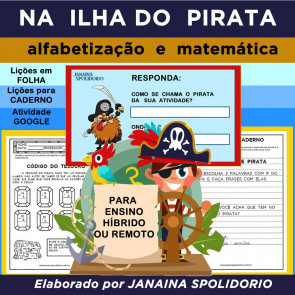 Na Ilha do Pirata - para Ensino Híbrido ou Remoto