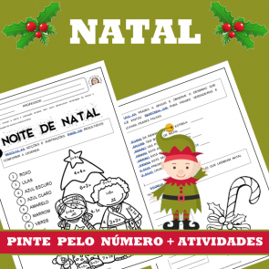 NATAL - Pinte pelo número com atividades