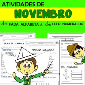 Novembro com Alfabeta e Numeraldo