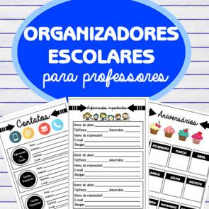 Organizadores escolares para PROFESSORES