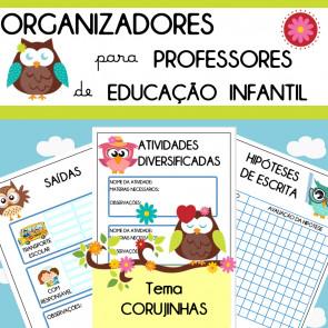 Organizadores para professores de Ed. Infantil - tema Corujinhas