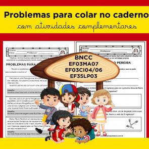 Problemas para COLAR NO CADERNO - VOLUME 1