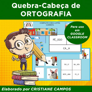 Quebra-cabeça de ortografia - para GOOGLE CLASSROOM