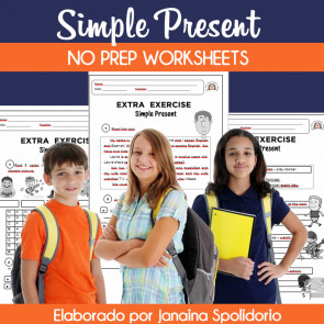Simple Present - No prep worksheets