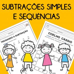 Subtrações simples e sequências