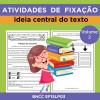 Atividades de Fixação - Ideia Central do Texto - Volume 2